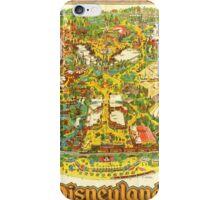Vintage Late 1970's Disneyland Map iPhone Case/Skin