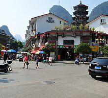 Yangshuo Township, China. by Ralph de Zilva
