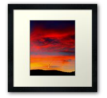 What's in a Contrail? Framed Print