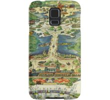 Vintage National Geographic Disneyland Map Samsung Galaxy Case/Skin