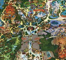 Vintage Millennium Disneyland Map by DisneyGeek