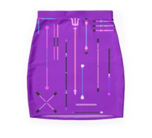 Purple Staff Mania Mini Skirt