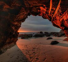 Caves Beach Sunrise. 9-11-13. by Warren  Patten