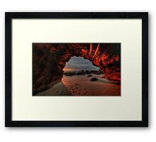 Caves Beach Sunrise. 9-11-13. Framed Print