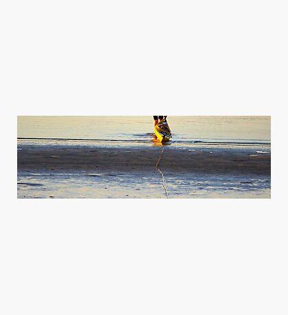 Yellow Kayak Photographic Print