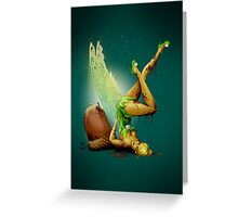 Zombie Pin-up Tinkerbell Greeting Card
