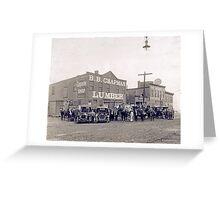 Cabinet Card: B. B. Chapman Lumber, Oxford, North Carolina c1910 Greeting Card