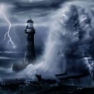 Light House Storm by Cliff Vestergaard