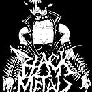 "Black Metal ""Corpse Paint Chick"" by MetalheadMerch"