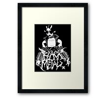 "Black Metal ""Corpse Paint Chick"" Framed Print"