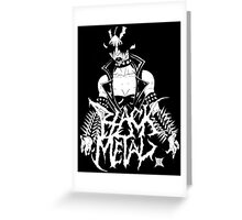 """Black Metal """"Corpse Paint Chick"""" Greeting Card"""