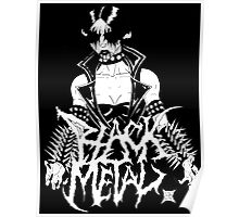 "Black Metal ""Corpse Paint Chick"" Poster"