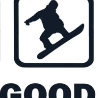 Bacon Snowboarding Beer The Good Life Sticker