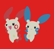 Plusle and Minun One Piece - Short Sleeve