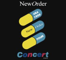 New Order 1989 Fine Time Promo Shirt USA Concert by Shaina Karasik