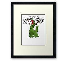 Unstoppable T-Rex Framed Print