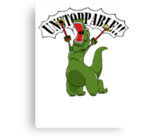 Unstoppable T-Rex Canvas Print