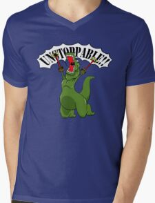 Unstoppable T-Rex Mens V-Neck T-Shirt