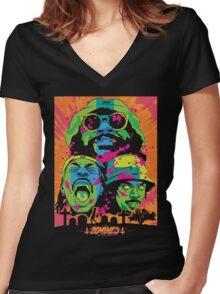 Flatbush Zombies Chemetry Trio Arc Darco mecky Women's Fitted V-Neck T-Shirt