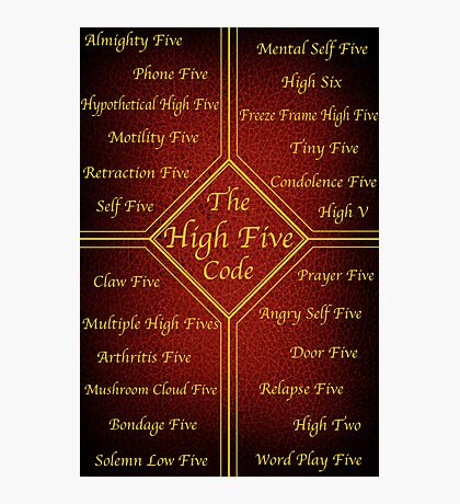 The High Five Code Photographic Print