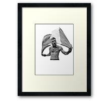 Conor McGregor UFC Fighter Black & White Framed Print