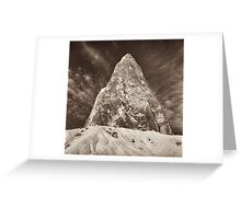 sand, sky, rock Greeting Card