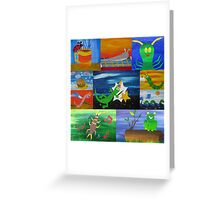 bugs collage Greeting Card
