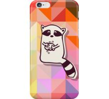 Raccoon who wash themselve iPhone Case/Skin