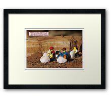 Marshmallow Race Framed Print