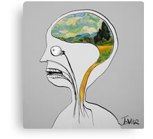 thinking like vincent Canvas Print