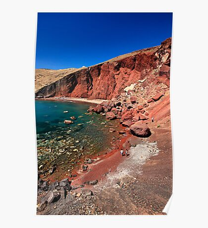 The famous Red beach of Santorini Poster