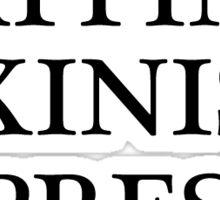 Napping, Bikinis, Espresso Sticker