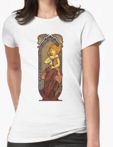 Adventure Time Art Nouveau-Flame Princess Womens Fitted T-Shirt