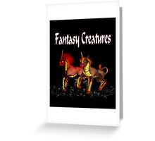 Fantasy Creatures .. calendar cover Greeting Card