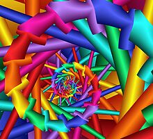 Rainbow 3D Spiral by KittyBitty1
