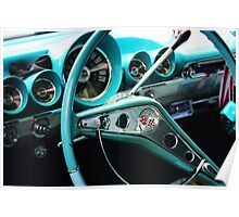 Classic Car Steering Wheel Poster
