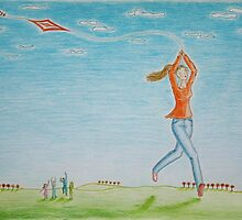 Flying kite by Solotry