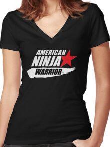 American Ninja Warrior Movie Series Women's Fitted V-Neck T-Shirt
