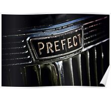 Prefect Classic Car Badge Poster