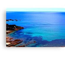Blue Coloured Water Canvas Print