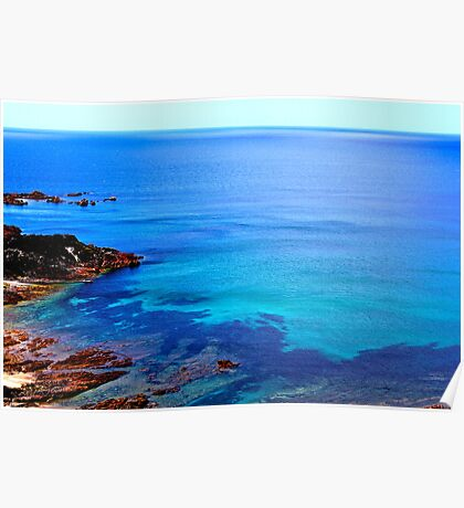 Blue Coloured Water Poster