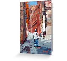 The Old Town, Sardinia, Italy Greeting Card