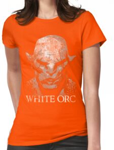 White Orc Womens Fitted T-Shirt