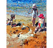 Sandcastles III Photographic Print
