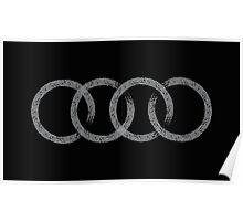 Audi logo marks black Poster