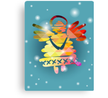 Christmas angel and New Year hand-painted decoration Canvas Print