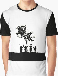 Children Holding Hands Graphic T-Shirt