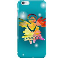 Christmas angel and New Year hand-painted decoration iPhone Case/Skin