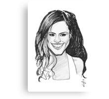 Caricature - Cheryl Cole Canvas Print