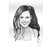 Caricature - Cheryl Cole Poster
